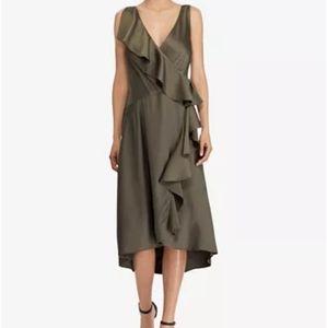 Olive green Lauren by Ralph Lauren dress.